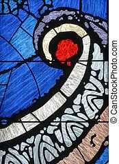 szklane okno, plamiony, kościół