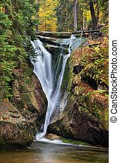Szklarka Waterfall in Autumn