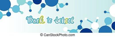 szkoła, chorągiew, wstecz, barwny, powitanie