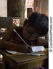 szkoła, dziecko, myanmar
