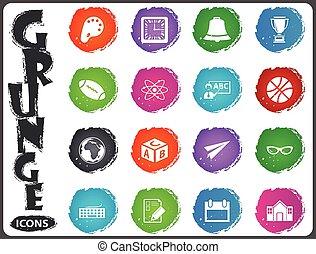 szkoła, komplet, grunge, styl, ikona
