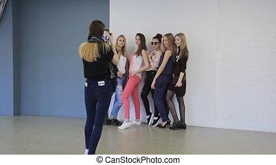 szkoła, samice, wpływy, photos., młody, wzór