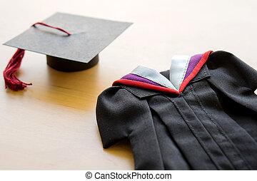 szkoła, suknia, uniwersytet, skala, skala, wysoki, dorosły student