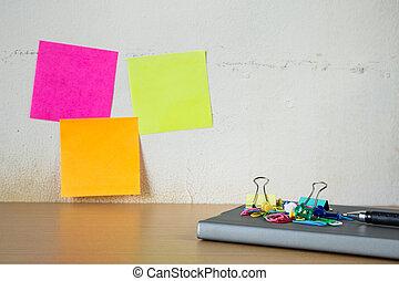 szkoła, szpilka, notatki, to, materiały piśmienne, poczta
