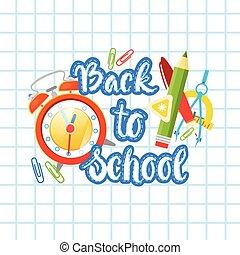 szkoła, tekst, wstecz, notatnik, tło, logo, studing,...