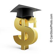 szkoła, wykształcenie, dolar, handlowy