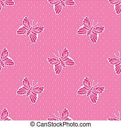 szlachecki, motyle, koronka, kropkowany