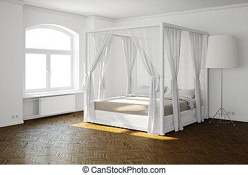 szoba, ágy, alvás
