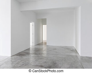 szoba, új, eleven, üres, szoba