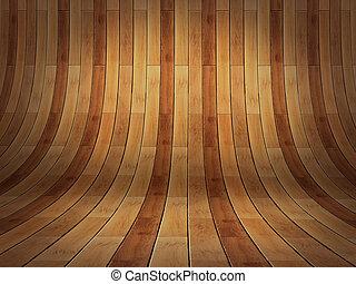 szoba, -, 3, gyakorlatias, erdő, háttér, te, bemutatás, üres, parket