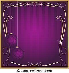 szoba, bíbor, vagy, címke, választékos, másol, karácsonyi üdvözlőlap