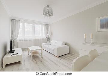 szoba, eleven, fény