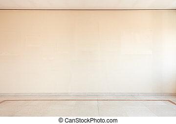 szoba, fal, emelet, tiszta, white üveggolyó, üres