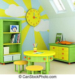szoba, gyermek