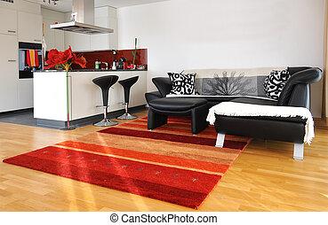szoba, modern élénk