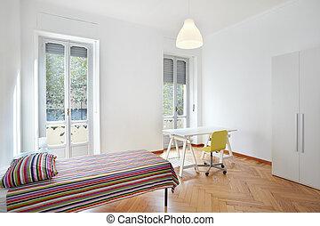 szoba, modern, hálószoba