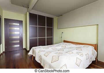 szoba, -, tágas, hálószoba