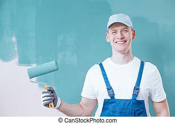 szobafestő, birtok, hajcsavaró