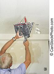 szobafestő, dolgozó
