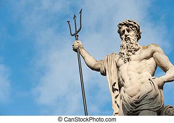 szobor, neptun