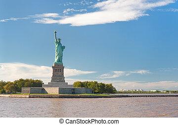 szobor, szabadság, new-york