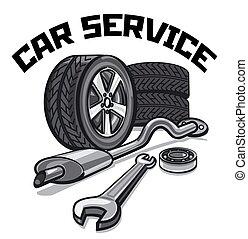 szolgáltatás, autó, cégtábla