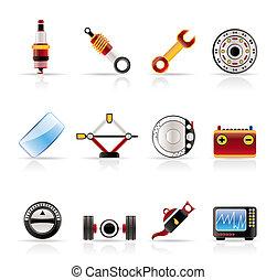 szolgáltatás, gyakorlatias, alkatrészek, autó