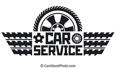 szolgáltatás, jel, autó