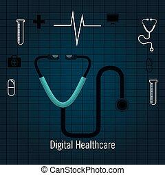 Szolgáltatás, orvosi, elszigetelt,  Healthcare