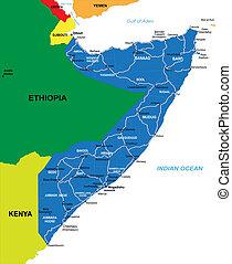 szomália, térkép
