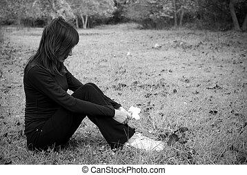 szomorúság, leány