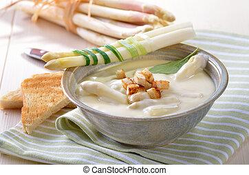 szparag, zupa, śmietanka