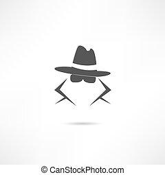 szpieg, ikona