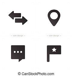 szpilki, media, komunikacja, ikony