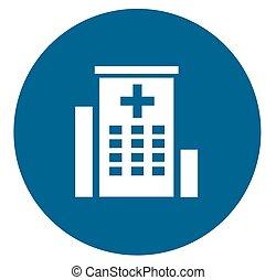szpital, medyczny, ikona