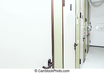 szpital, rentgenologia, drzwi