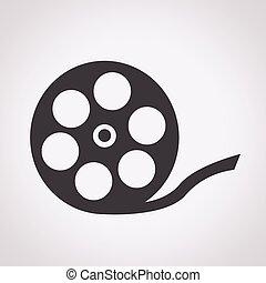 szpula, film, ikona