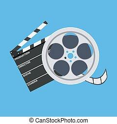 szpula, klepać, film, kino