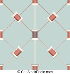 szpulka, struktura, pattern., seamless, nitka