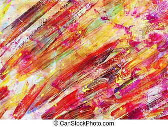sztuka, abstrakcyjny, -, dzieci, malarstwo, rysunek