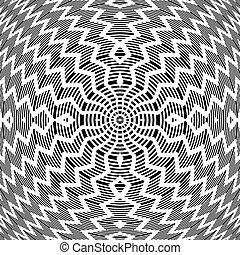 sztuka, abstrakcyjny, pattern., ruch obrotowy, op