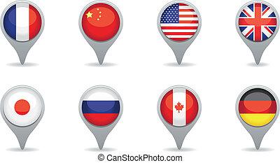 szuper, energiák, zászlók