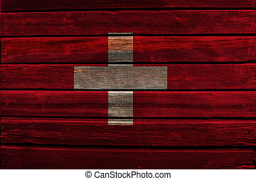 szwajcaria bandera, drewno
