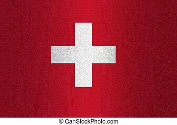 szwajcaria bandera, kamień