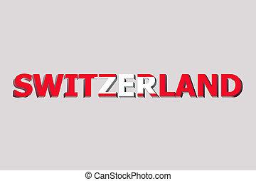 szwajcaria, tekst, bandera