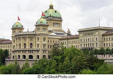 szwajcarski, parliament., bern, szwajcaria