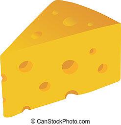 szwajcarski ser, wektor, ilustracja