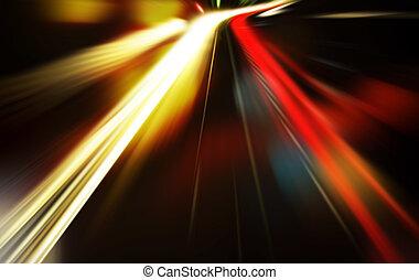 szybkość, droga, noc