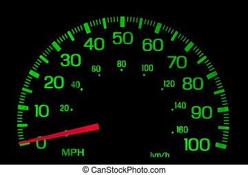szybkościomierz, na, czarnoskóry, odizolowany