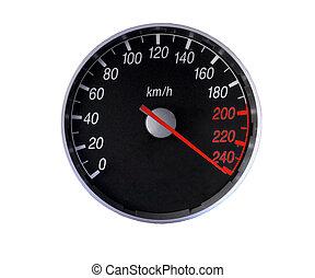 szybkościomierz, na, granica